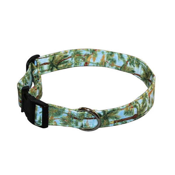 Elmo's Closet Breezy Palms Dog Collar