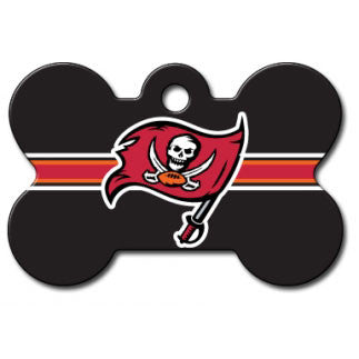 Tampa Bay Buccaneers NFL Custom Engraved Dog ID Tag - Bone