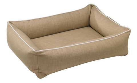 Bowsers Urban Lounger Dog Bed - Flax