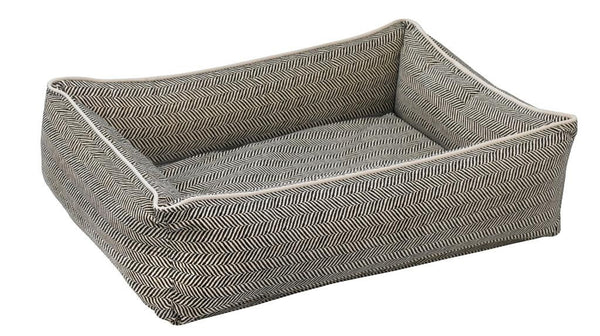 Bowsers Urban Lounger Dog Bed - Herringbone