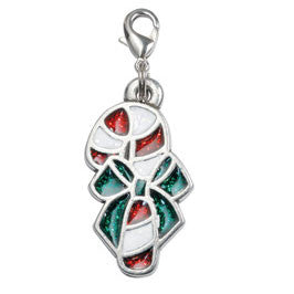 Rockin' Doggie Dog Charm - Christmas Candy Cane