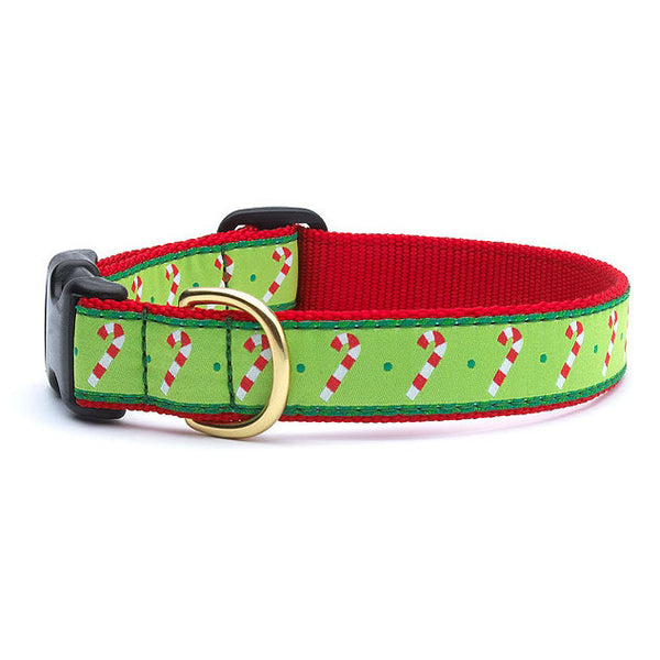 Up Country Candy Cane Dog Collar