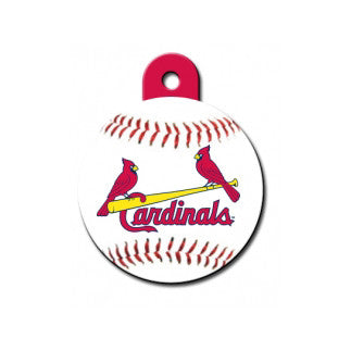 St. Lous Cardinals MLB Custom Engraved Dog ID Tag - Round