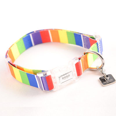 Dogo Contempo Dog Collar - Rainbow