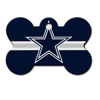Dallas Cowboys NFL Custom Engraved Dog ID Tag - Bone