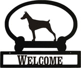 Sweeney Ridge Doberman Pinscher Custom Message Sign
