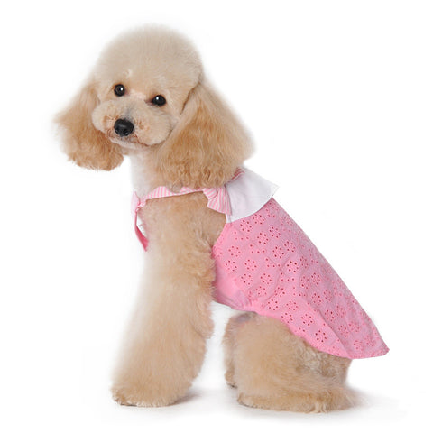 Cute Bow Eyelet Dog Tank