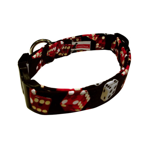 Elmo's Closet Dice Dog Collar
