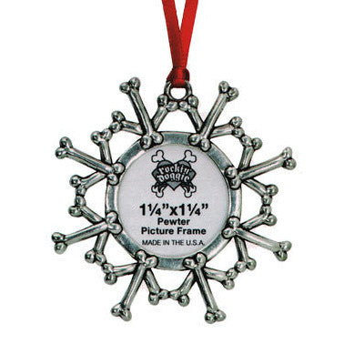 Dog Bone Snowflake Wreath Christmas Ornament