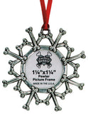 Rockin' Doggie Dog Bone Snowflake Christmas Ornament