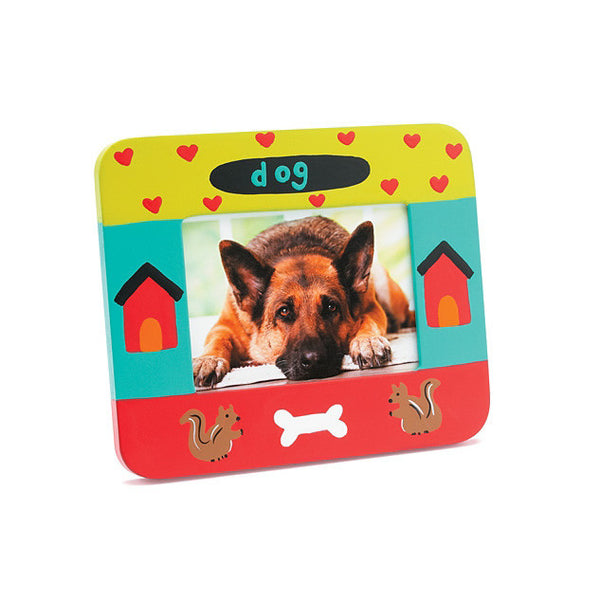 Dog Photo Frame - Hearts, Squirrels & Bones