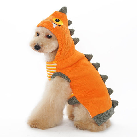 Dragon Dog Sweater - Orange