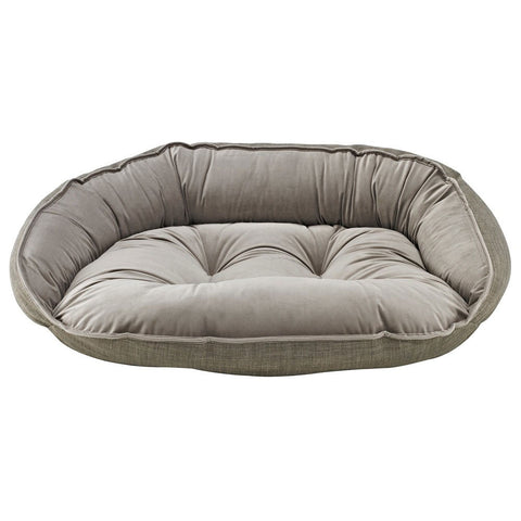 Bowsers Crescent Dog Bed - Driftwood (Microlinen)