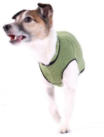Eco Fleece Pullover Dog Sweater - Leaf Green