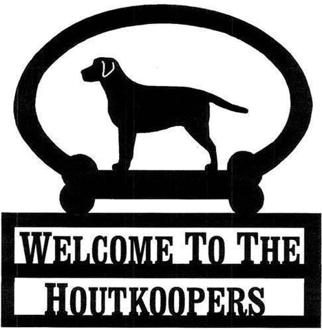 Sweeney Ridge Basset Hound Custom Welcome Sign