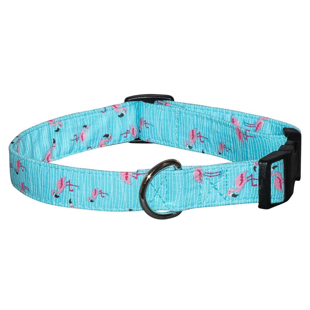 Elmou0027s Closet Flamingos Dog Collar