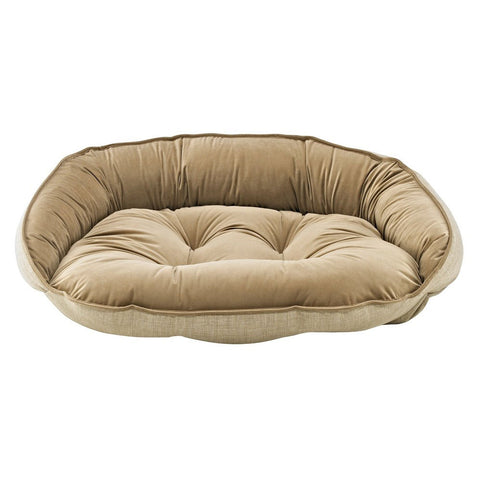 Bowsers Crescent Dog Bed - Flax (Microlinen)