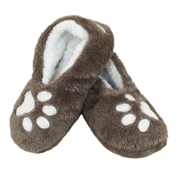 Footsies Slipper Socks - Paw Print/I Sleep with Dogs
