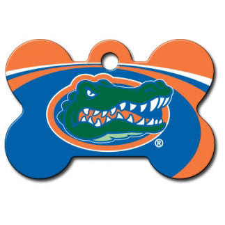 Florida Gators NCAA Custom Engraved Dog ID Tag - Bone