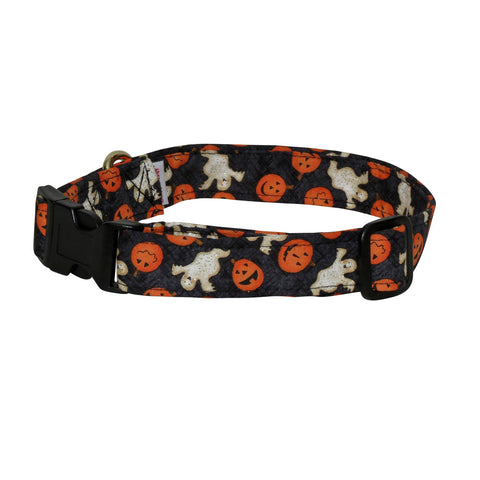 Elmo's Closet Jack O Lanterns & Ghosts Dog Collar