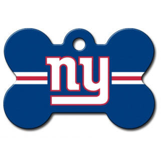 New York Giants NFL Custom Engraved Dog ID Tag - Bone