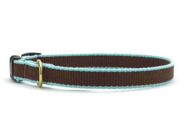Up Country Green Market Bamboo Cat Collar - Brown & Aqua