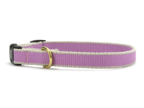 Up Country Green Market Bamboo Cat Collar - Lilac & Gray