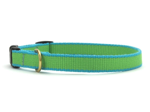 Up Country Green Market Bamboo Cat Collar - Lime & Aqua