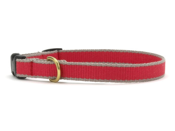 Up Country Green Market Bamboo Cat Collar - Red & Gray