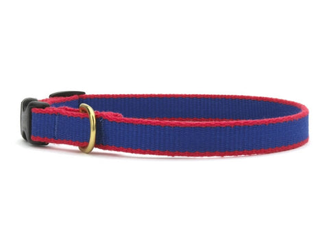 Up Country Green Market Bamboo Cat Collar - Royal Blue & Red