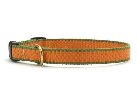Up Country Green Market Bamboo Cat Collar - Tangerine & Pine