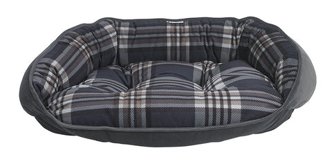 Bowsers Crescent Dog Bed - Greystone Tartan