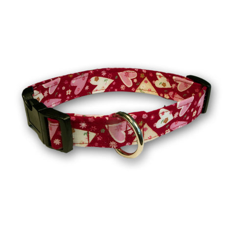 Elmo's Closet Hearts & Flowers Dog Collar