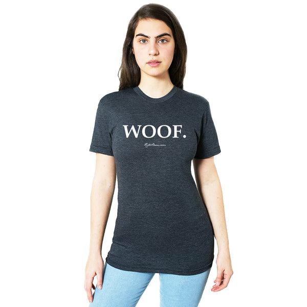 Woof T-Shirt (Unisex) - Heather Black