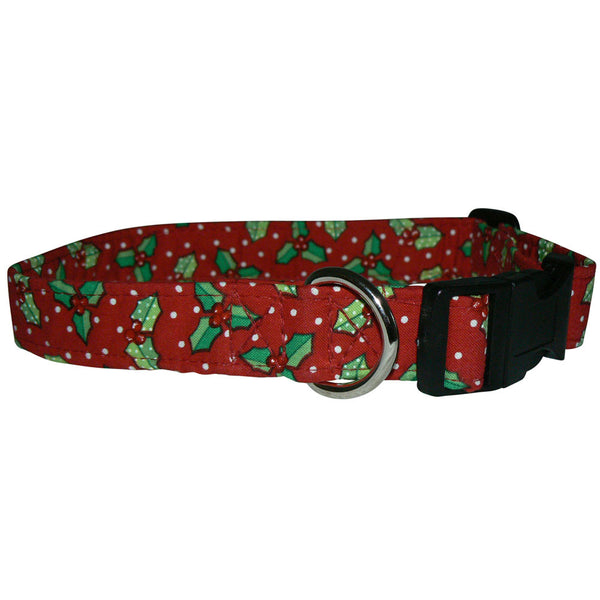 Elmo's Closet Holly On Dots Dog Collar