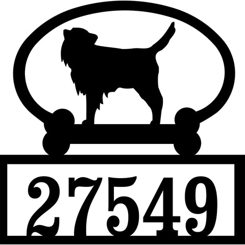 Sweeney Ridge Dog Breed Custom House Number Signs