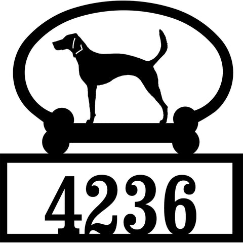 Sweeney Ridge American Foxhound Custom House Number Sign