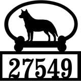 Sweeney Ridge Australian Cattle Dog Custom House Number Sign