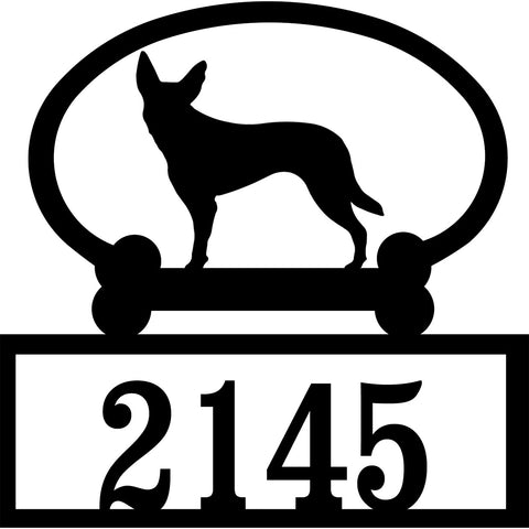 Sweeney Ridge Australian Kelpie Custom House Number Sign