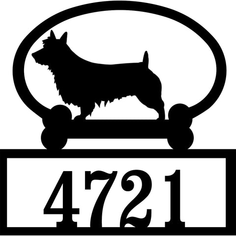 Sweeney Ridge Australian Terrier Custom House Number Sign