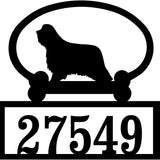 Sweeney Ridge Bearded Collie Custom House Number Sign