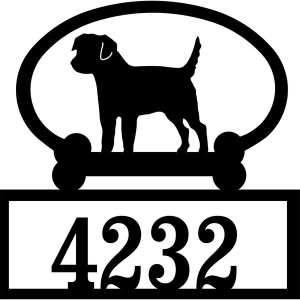 Sweeney Ridge Border Terrier Custom House Number Sign