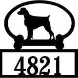 Sweeney Ridge Brittany Spaniel Custom House Number Sign