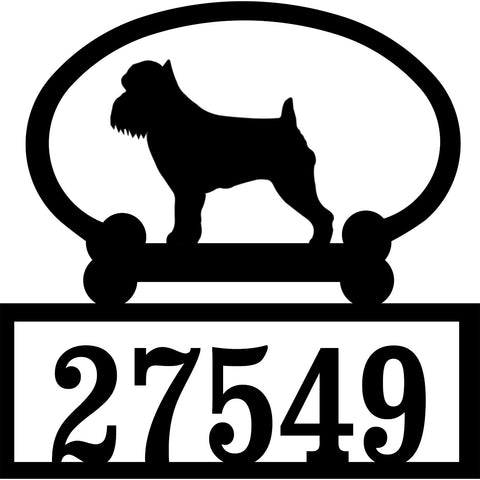 Sweeney Ridge Brussels Griffon Custom House Number Sign