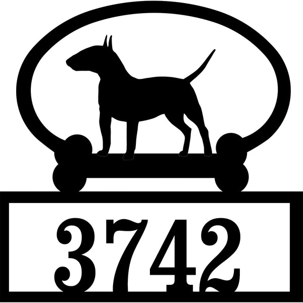 Sweeney Ridge Bull Terrier Custom House Number Sign