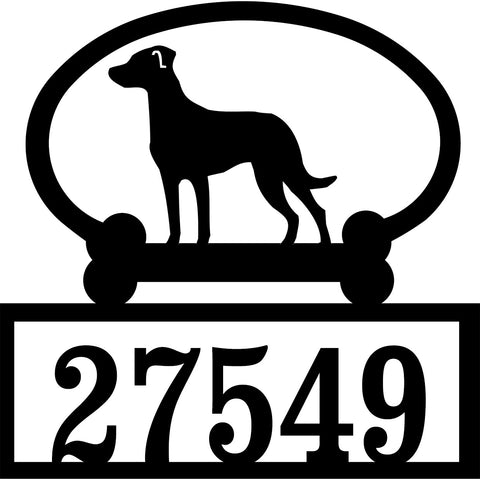 Sweeney Ridge Catahoula Custom House Number Sign
