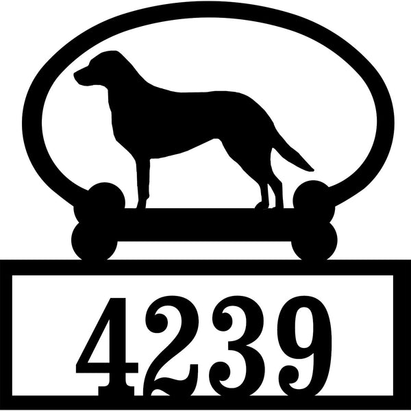 Sweeney Ridge Chesapeake Bay Retriever Custom House Number Sign