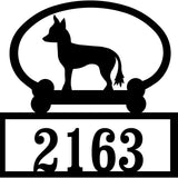 Sweeney Ridge Chinese Crested Custom House Number Sign