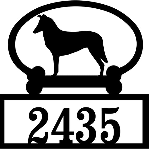 Sweeney Ridge Smooth Collie Custom House Number Sign