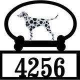 Sweeney Ridge Dalmatian Custom House Number Sign